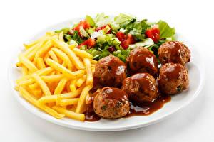 Картинка Картофель фри Салаты Мясные продукты