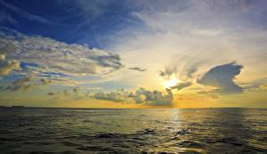 Фотография Пейзаж Рассветы и закаты Море Небо Облака Горизонт Природа
