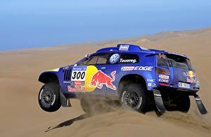 Фотографии Volkswagen Стайлинг Пустыни Песке Гонки Touareg Dakar автомобиль