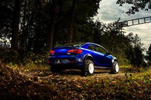 Фотографии Киа Осенние Листва Металлик Сзади Синяя 2015 Forte Koup Mud Bogger авто