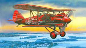 Обои Рисованные Самолеты Polikarpov I-5 Авиация фото