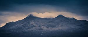 Фотографии Шотландия Гора Cloud Topped Cuillins Isle of Skye Природа