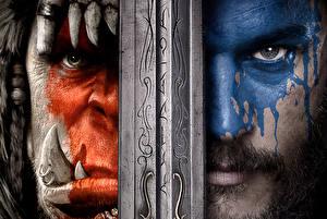 Обои World of WarCraft Мужчины Мечи Взгляд Лицо Durotan Toby Kebbell Anduin Lothar Travis Fimmel Blizzard Игры Фэнтези фото