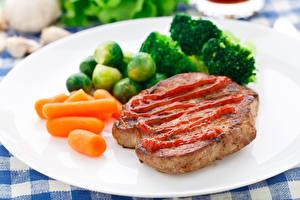 Фотография Мясные продукты Овощи Морковь Кетчуп