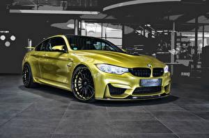 Обои BMW Золотых 2014 Haann M4 F82 Автомобили