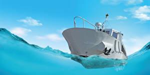 Обои Яхта Вода Небо Море
