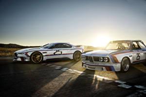 Фото БМВ Стайлинг 2 Белый Едущая 2015 BMW 3.0 CSL Hommage Автомобили