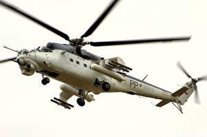 Обои Вертолеты Mil Mi-24 Авиация фото