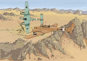 Обои Самолеты Рисованные Двое Авиация фото