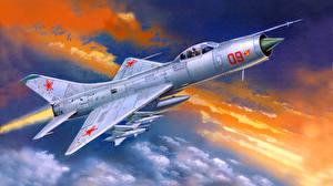 Обои Самолеты Рисованные Истребители Su 9 Авиация фото