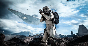 Картинки Star Wars Солдаты Высодка десанта Battlefront Electronic Arts DICE TM EA компьютерная игра Фэнтези