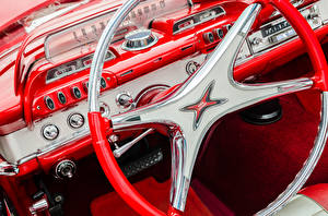 Картинка Додж Салоны Винтаж Автомобильный руль 1960 Автомобили