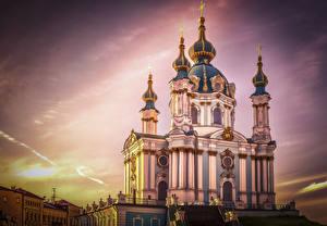Обои Украина Храм Религия Киев город