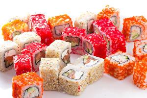 Обои Морепродукты Суси Крупным планом Пища