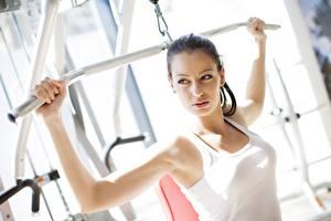 Картинки Фитнес Майка Физические упражнения Спорт Девушки