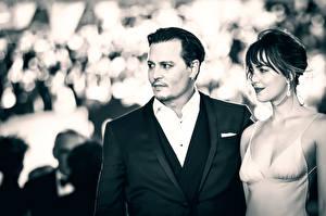 Фотография Johnny Depp Мужчины Dakota Johnson Black Mass Знаменитости Девушки