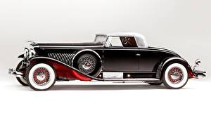 Обои Ретро Сбоку Черный 1931 Duesenberg J 460/2478 Coupe LWB Aluminum Mimicking Soft-Top Murphy Автомобили фото