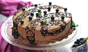 Фотографии Торты Шоколад Сладости Еда
