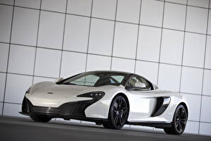 Обои McLaren Тюнинг Белых Металлик 2015 650S Spider Al Sahara 79 by MSO авто
