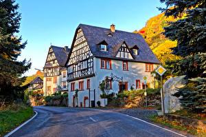 Фото Германия Дома Дороги Улица Traben-Trarbac Города