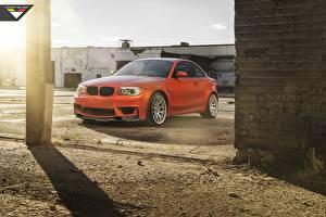 Фотография БМВ Оранжевых Vorsteiner 1 series M1 E82 авто