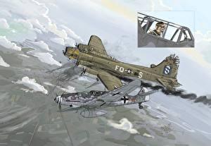 Фотография Самолеты Рисованные