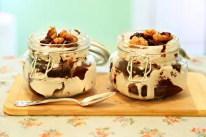 Фотография Сладкая еда Мороженое Банке 2 Ложка Продукты питания