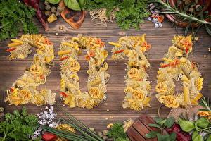 Картинка Праздники Новый год Приправы 2016 Макароны Еда