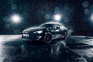 Картинка Тойота Черный Капель С брызгами GT86 Sport машина