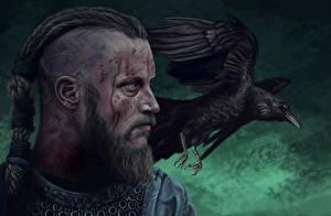 Фотография Викинги (телесериал) Вороны Живопись Птицы Кино raven Ragnar Lothbrok Фильмы Фэнтези
