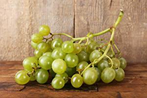 Обои Фрукты Виноград Крупным планом Зеленых Еда