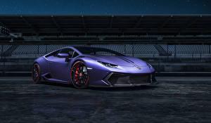 Картинка Lamborghini Стайлинг Фиолетовый Huracan vorsteiner Novara supercar авто