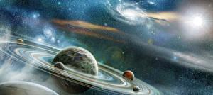 Обои Планеты Фэнтези Космос 3D_Графика фото