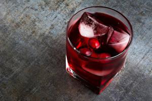 Картинки Коктейль Напиток Стакан Лед Бордовый Пища