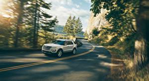 Картинка Ford Дороги Движение explorer Авто