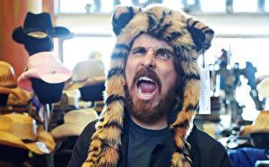 Фотографии Christian Bale Шапки Борода Усы человека Peggy Sirota Esquire Знаменитости