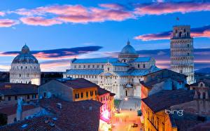 Обои Италия Дома Улица Pisa Города