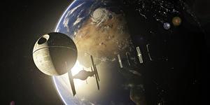 Обои Звездные войны Планеты Корабли Death Star Фэнтези Космос 3D_Графика фото