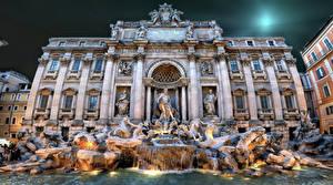 Фото Италия Фонтаны Дома Рим Города