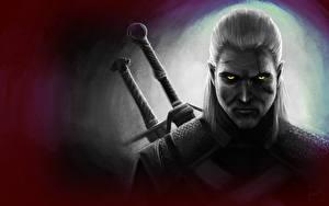 Обои The Witcher 3: Wild Hunt Мужчины Геральт из Ривии Игры Фэнтези фото