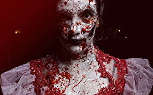 Фотография Макияж Смотрит Кровь The Boneyard Девушки
