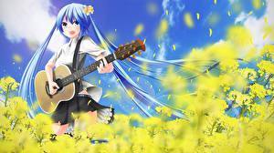 Фотография Вокалоид Hatsune Miku Гитара nekobaka Девушки
