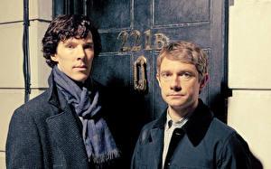Картинки Мужчина Камбербэтч Бенедикт Шерлок Двое season 3  BBC One Sherlock Holmes Dr. John Watson Martin Freeman 221B Baker Street кино Знаменитости