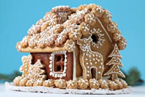 Обои Праздники Рождество Выпечка Здания Пряничный домик Дизайн Продукты питания
