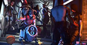 Фотография Mass Effect Мечи Miranda Lawson KEI-9 Robotic Dog Jack dog-mech Фэнтези 3D_Графика