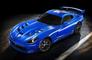 Фото Додж Металлик Синяя 2016 Dodge Viper машина