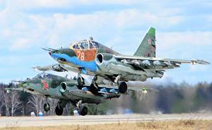 Обои Самолеты Истребители Sukhoi SU 25 Авиация фото