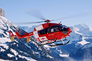 Обои Вертолеты Горы Небо Авиация фото