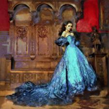 Фото Живопись Рисованные Платье Nikita Bolyakov девушка