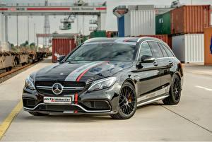 Обои Mercedes-Benz Тюнинг Черный Металлик 2015 AMG C63 (Perform Master) Автомобили